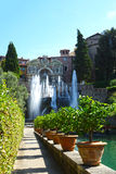 Villa d'Este in Tivoli, Italy, Europe Stock Photography