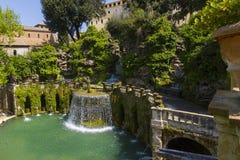 Villa d'Este in Tivoli - Italy Stock Image