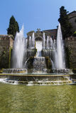 Villa d'Este in Tivoli - Italy Stock Photography