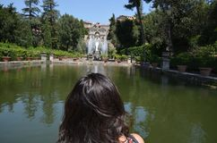 Villa d`Este, water, waterway, body of water, reflection. Villa d'Este is water, reflection and river. That marvel has waterway, water resources and watercourse Stock Image