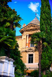 Villa dans la ville de Lugano Photos libres de droits
