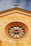 Villa   daY rose window Royalty Free Stock Photos