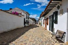 Villa de莱瓦,博亚卡省,哥伦比亚 免版税图库摄影