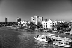 Villa de bâtiment d'hôtel de tourisme à Nassau, Bahamas Photographie stock libre de droits