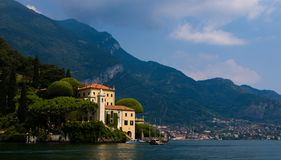 Villa De Balbianello. The Villa De Balbianello, scene of a few movie scenes stock photos