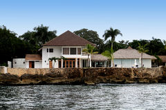 Villa de bord de la mer en La Romana Photos libres de droits
