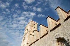 Villa de Dal't dans la ville d'Ibiza Photographie stock