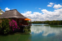 Villa de l'eau Images stock