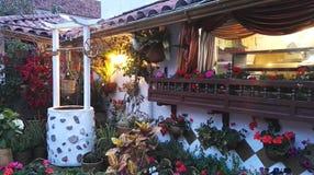 Villa de Leyva, Colombia Chocolat. Interior garden of the chocolate house in Villa de Leyva, Colombia. Majestic architecture and a splendid trip. tourism Stock Photography