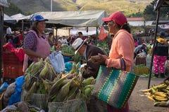Villa de Leyva farmers market in Colombia Stock Photos