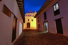Villa de Leyva at night in Colombia Stock Images