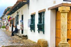 Villa de Leyva Street View Stock Image