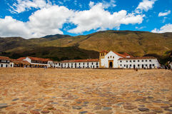 Villa de Leyva Town Square Stock Photo