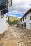 Villa de leyva town streets royalty free stock photography