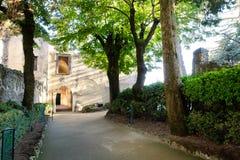 Villa de porte d'entrée sur la côte de la mer Méditerranée, Italie images stock