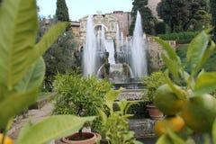 Villa de Tivoli de ` cardinal Este, Italie d'Ippolito d Photos libres de droits