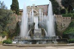Villa de Tivoli de ` cardinal Este, Italie d'Ippolito d Image stock