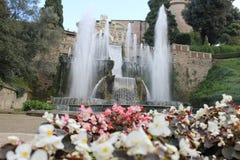 Villa de Tivoli de ` cardinal Este, Italie d'Ippolito d Images libres de droits