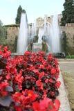 Villa de Tivoli de ` cardinal Este, Italie d'Ippolito d Photographie stock