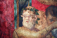 Villa dei misteri. A ancient roman fresco inside the famous house villa dei misteri at pompeii in italy royalty free stock photos