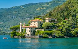 Villa del Balbianello, famous villa in the comune of Lenno, overlooking Lake Como. Lombardy, Italy. royalty free stock image