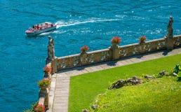 Villa del Balbianello, famous villa in the comune of Lenno, overlooking Lake Como. Lombardy, Italy. The Villa del Balbianello is a villa in the comune of Lenno stock image