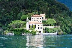 Villa del Balbianello en el lago Como Fotos de archivo libres de regalías