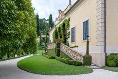 Villa del Balbianello green garden. Lenno, Italy stock image