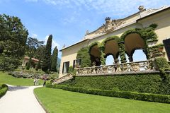 Villa del Balbianello at Lake Como. Beautiful villa and garden at Lake Como, Italy royalty free stock photo