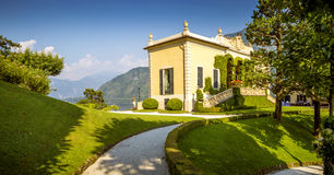 Villa del Balbianello at lake Como, Italy Stock Photo