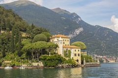 Villa del Balbianello at Lake Como. Lago di Como, also known as Lario in West Lombardy, is a lake of glacial origin in Lombardy, Italy royalty free stock images