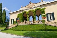 Villa del Balbianello on Lake Como, Lenno, Lombardia, Italy. Romantic wedding place on Como Lake - famous Villa del Balbianello, Lenno, Lombardia, Italy royalty free stock images