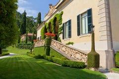 Villa del Balbianello on Lake Como, Lenno, Lombardia, Italy. Romantic wedding place on Como Lake - famous Villa del Balbianello, Lenno, Lombardia, Italy royalty free stock photo
