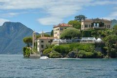 Villa del Balbianello at lake Como. Villa del Balbianello is one of the most beautiful villas overlooking lake Como royalty free stock image