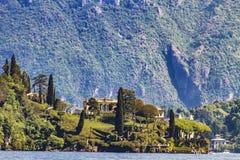 Villa del Balbianello sul lago Como in Italia Fotografie Stock Libere da Diritti