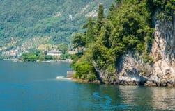 Villa del Balbianello, famous villa in the comune of Lenno, overlooking Lake Como. Lombardy, Italy. The Villa del Balbianello is a villa in the comune of Lenno stock images