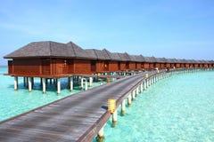 Villa del vater delle Maldive Immagini Stock Libere da Diritti