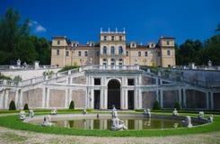 Villa della Regina in Turin, Italy. Facade and fountain of Villa della Regina in Turin, Italy Stock Photography