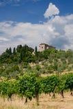 Villa della Toscana, Italia Fotografie Stock Libere da Diritti