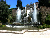 Villa dEste gardens (Tivoli -Italy) Royalty Free Stock Photo