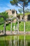 Villa di Adriano, piscina de Canopo Fotografía de archivo libre de regalías