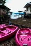 Villa di alloggio presso famiglie sulla piccola isola Fotografia Stock Libera da Diritti