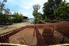 Villa di alloggio presso famiglie sulla piccola isola Immagine Stock