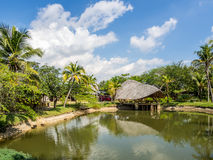 Villa di bambù Fotografia Stock