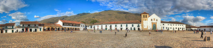 Villa di Leyva plaza Royalty Free Stock Photo
