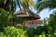 Villa di lusso all'isola tropicale alle Maldive Immagini Stock Libere da Diritti