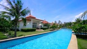 Villa di lusso con la piscina privata stock footage