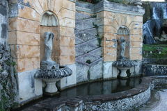 Villa di Tivoli del ` Este, Italia di Ippolito d del cardinale Fotografie Stock Libere da Diritti