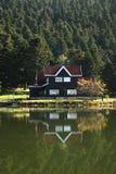Villa dichtbij Meer Royalty-vrije Stock Foto