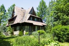 Villa in a distinctive style in Zakopane Stock Photo